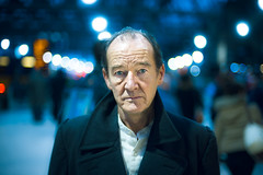 David Hayman (TGKW) Tags: portrait people man david station night lights theatre bokeh expression glasgow central scottish actor hayman nightlife promotional citizens 4122