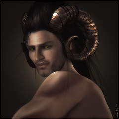 Skip~Pan the  God of  the Woods (Skip Staheli *11 YEARS SL PHOTOGRAPHY*) Tags: avatar horns sl fantasy secondlife legends pan greekgod mythe skipstaheli