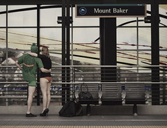 Enjoying the view at Mt. Baker (SoundTransit) Tags: 2012 justforfun linklightrail