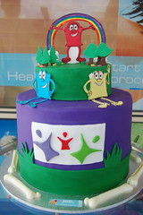 Leeming Chiropractic Cake (BAKED. Cake It To The Limit) Tags: cute grass cake rainbow chocolate bones huge fondant gumpaste 3tier ganche barrelcake gumpastetrees