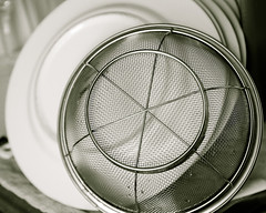 plates and colander
