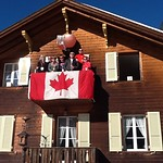 Wengen, January 2012 - Proud Canadian Fans here!
