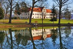 Lužnica (my moon blue) Tags: lake reflection castle water croatia dvorac jadranko marijindvor dsc09970 zaprešić lužnica luznica