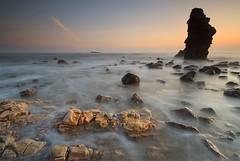 EASTER ISLAND ESCAPEE (Steve Boote..) Tags: sea mist seascape fog sunrise dawn coast rocks faces stack northumbria northsea coastline easterisland gitzo whitburn tyneandwear southtyneside northeastengland leefilters koodfilters steveboote