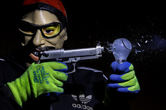 21/366 - Ali G vs The Lightbulb (Colin Cameron ~ Photography ~) Tags: bulb smash shot mask shooting bullet 365 explode smashing highspeed alig exploding airrifle tamron2875f28 airpistol 366 canon7d phototrigger 2012365 2012366