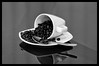 Cup of Coffee Beans (1100SP) Tags: white black cup coffee beans sony espresso 365 a580