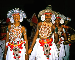 Kandyan Dancers I - Colombo Navam Maha Perahera, Sri Lanka (david schweitzer) Tags: dance october dancers buddhist culture jewelry classical srilanka 1983 procession tradition pageant ethnic colombo perahera kandyan sinhalese theravada navam fullmoonpoyaday