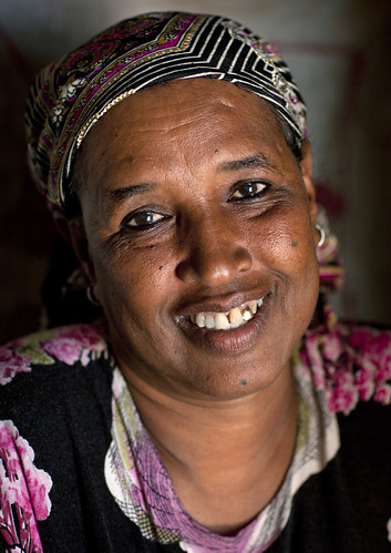 Woman Wearing Veil Portrait In Hargeisa Somaliland