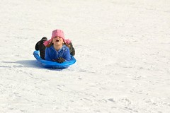 sledding (kspan17) Tags: snow fun sledding sled thrill brrr sledriding clevelandmetroparks hinckleyreservation coastinghill