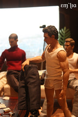 Strip Poker - James (em`lia) Tags: gay hot actionfigure johnnydepp fashiondoll diorama homme playdate jamesfranco strippoker takeshikaneshiro wentworthmiller hottoys siama integritytoys emlia jakegyllehard