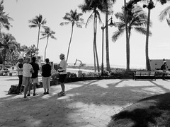 Waikiki pastime: watching and talking with the...