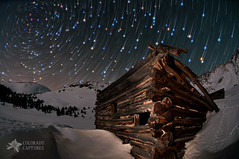 Wonders Of The Night (Mike Berenson - Colorado Captures) Tags: sky mountain mountains nature boston night stars cabin colorado mine alpine ghosttown rockymountains allrightsreserved summitcounty startrails shootingstar mayflowergulch coloradocaptures copyright2012bymikeberenson