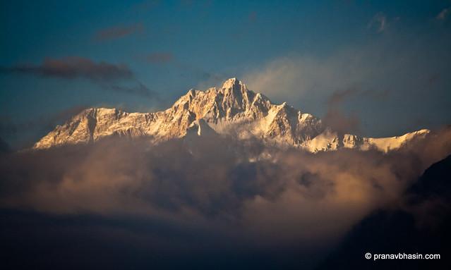 Kanchenjunga In Clouds, Pelling, Sikkim