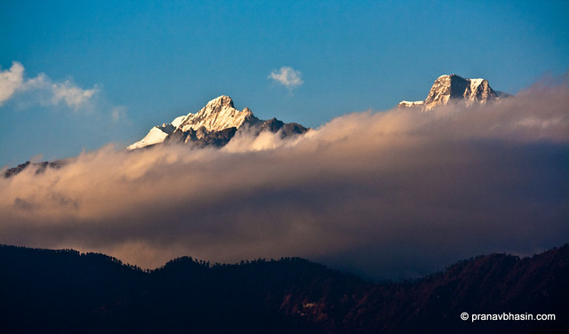 Mt. Narsing Floating In Clouds, Kanchenjunga Range, Pelling, Sikkim