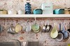Cape Town Kitchen (Lauren Barkume) Tags: africa old blue vacation white kitchen lines bread southafrica december sink antique ct capetown pots hanging westerncape 2011 laurenbarkume gettyimagesmeandafrica1 oldbuscuitmill