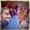 End of the Day (Foto Jennic) Tags: boot asheville cowboyboots putyourfeetup phoneography iphoneography