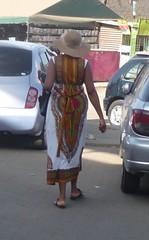 Kitenge dress and hat (prondis_in_kenya) Tags: hat pattern dress kenya nairobi kitenge hotdryseason
