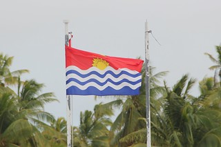 Kiribati flag in the wind