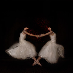 Dance (sparrek) Tags: ballet selfportrait dance movement dress multiplicity clones barefoot redhair heartshape littlestories thedantecircle redmatrix truthandillusion sparrek