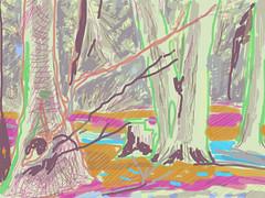Badbury Woods (Martin Beek) Tags: brushes ipad brushesapp badburywoods faringdon oxfordshire drawing digital landscape study art digitalmedia ipadlandscape tablet app uk englishlandscape observation colour ipaddrawing ipadlandscapes ~201213 ~martin beek~ marks stylus screen pixel