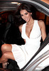 Model Georgia Salpa wearing a white Marilyn Monroe style dress as she heads out to party following an appearance on the 'Saturday Night Show' Dublin, Ireland Mandatory Credit:WENN.com
