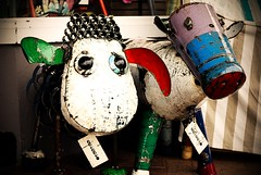 What will we do today? (Aaron-RT) Tags: colour art animals metal cow rust sheep nsw milton southcoast