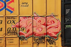 P.82 (KNOWLEDGE IS KING_) Tags: color art car yard train bench graffiti photo paint tracks rail railway socal crew boxcar wai piece burner bomb railfan freight 82 fill floater in ttx p82 benched fbox