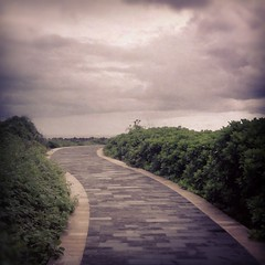 Pathway to the ocean (mac_ivan) Tags: ocean sea summer sky bali clouds indonesia square evening seaside dusk path squareformat sutro pathway nusadua rainyseason iphoneography instagramapp uploaded:by=instagram foursquare:venue=4c2305ea7e85c928daf9bc21 seasonofrain