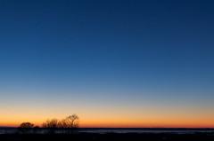 (Chungking Express) Tags: blue winter sunset sky orange wisconsin nikon 35mmf18 horiconmarsh pointroad lightroom3 d7000 horiconnationalwildliferefuge