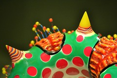 Color (KaDeWeGirl) Tags: newyorkcity glass manhattan circles colored spikes themet metropolitanmuseumofart