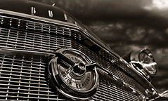 """Storm of the Century"" (Neil Banich Photography) Tags: bw cars car vintage buick automobile artistic details heavymetal grill chrome 1956 custom artcar hotrods ratrod autoart carscool picturescool neilbanichphotograhy imagescool"