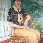 """<b>Helen Farwell</b><br/> Paul D. Running (1923-) """"Helen Farwell"""" Oil, 1995 LFAC #1995:08:01<a href=""""http://farm8.static.flickr.com/7017/6852264823_2c3c670882_o.jpg"""" title=""""High res"""">∝</a>"""