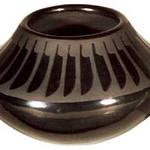 "<b>Jar</b><br/> Maria/Santana Martinez/Martinez (1909-2002) ""Jar"" Blackware, ca. 1950-1954 LFAC #1995:08:03<a href=""http://farm8.static.flickr.com/7017/6852264887_9699ac3697_o.jpg"" title=""High res"">∝</a>"