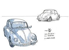 Coccinelle (gerard michel) Tags: auto sketch croquis ancêtre