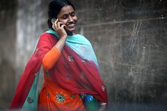CONVERSE (N A Y E E M) Tags: street portrait girl candid cellphone conversation windshield neighbour today bangladesh chittagong rabiarahmanlane