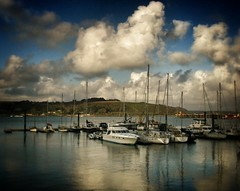 Sea view (aanthony712) Tags: skycloudssun cornishseaviewcornwallboats falmouthreflectionwater