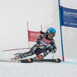 Sunao TAKABA of Japan takes 1st Place in the U14 Girls GS Race held on Whistler Mountain on April 5th, 2014. Photo by James Cattanach - coastphoto.com