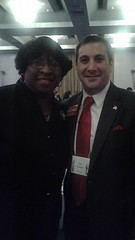 Candidate for US Congress Joe Kaufman with Rev. Dr. DeeDee Coleman at AIPAC