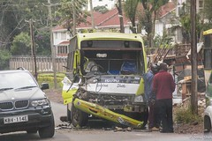The Accident - 17th March 2015 (princetontiger) Tags: street bus green kenya accident streetphotography