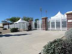 Media Entrance at Surprise Stadium -- Surprise, AZ, March 09, 2016 (baseballoogie) Tags: arizona canon baseball stadium az powershot surprise ballpark springtraining royals kansascityroyals cactusleague baseballpark surprisestadium 030916 sx30is canonpowershotssx30is baseball16