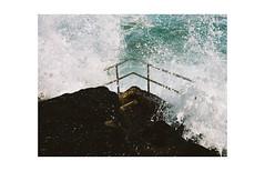 splash, manly beach (mamiya645, portra400) (jeffasteinberg) Tags: ocean travel color mamiya film beach pool analog waves kodak sydney rail australia splash portra manleybeach jeffasteinberg
