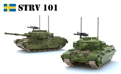 Stridsvagn 101 (Matthew McCall) Tags: army war tank lego sweden military armor vehicle combat centurion