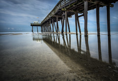 Ocean City NJ (ADW44) Tags: longexposure reflection beach water pier newjersey nj ndfilter