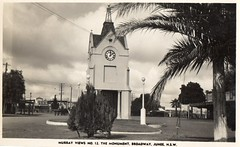 Murray Views No 12 The Monument, Broadway, Junee, NSW (Daddys 'lil Girl) Tags: postcard australia nsw historical 1949 wagga albury junee riverina