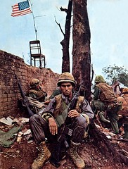Marines at Hue 1968 (Peer Into The Past) Tags: usmc colorphotography americanflag vietnam marines hue marinecorps semperfi thousandyardstare photojournalist oldglory vietnamwar honorthefallen donmccullin supportourveterans donmccullinphotography
