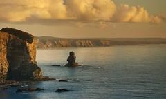 West Coast (Jose Antonio Pascoalinho) Tags: ocean light sunset sea sky seascape portugal water clouds composition landscape coast rocks outdoor scenic cliffs coastal coastline algarve scape westcoast atlanticocean rockformation arrifana costavicentina zedith
