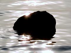 Sparkle (Khaled M. K. HEGAZY) Tags: sea white black nature water silhouette rock closeup nikon outdoor redsea egypt coolpix p520 rassedr