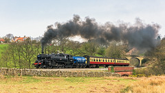 Darnholm Branch (4486Merlin) Tags: england europe unitedkingdom transport steam northeast railways northyorkshire gbr northyorkshiremoorsrailway 63a heritagerailways exbr brstd4mt264t darnholmbankgoathland mattfishercharter 8012680072