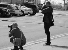 Exact Shot (Honey Agarwal) Tags: road camera people bw sun white toronto canada black beautiful walking photography photo perfect shot group smiles sunny talking bnw clicks topw topwsw