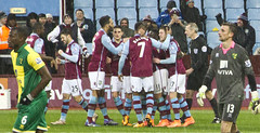 Aston Villa 2  Norwich 0  Another Win for the Villa (johngarghan) Tags: park uk england football birmingham fussball unitedkingdom soccer villa holte futebol westmidlands fa voetbal premiership astonvilla villapark fusball footballleague holteend northstand norwichcity johngarghan trinitystand